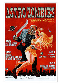 Poster  The Astro-Zombies, 1969 (anglais)