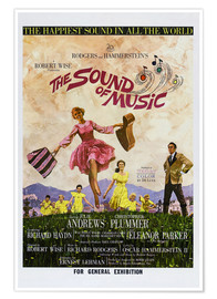 Poster  THE SOUND OF MUSIC, Australian poster, Julie Andrews, Christopher Plummer (far right), 1965.