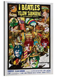 Tableau en aluminium  The Beatles, Yellow Submarine