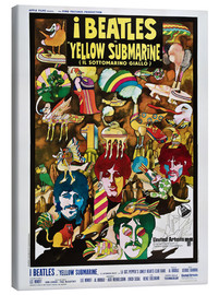 Tableau sur toile  The Beatles, Yellow Submarine (italien)