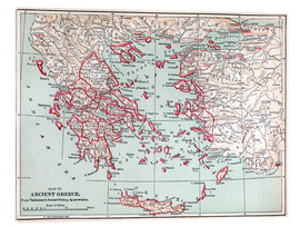 Verre acrylique  Map: Ancient Greece