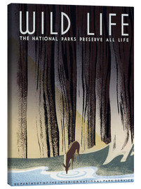 Toile  Wild Life Poster, C1940. - Frank S. Nicholson