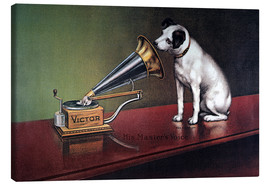 Toile  Victor gramophone Advertising