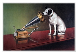 Poster  Gramophone Victor - François Barraud