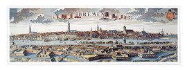 Poster  Bremen, Germany, 1719