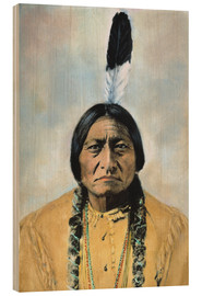 Tableau en bois  Sitting Bull - David F. Barry