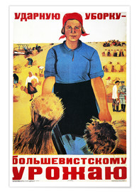 Poster  Russias agricultural kolkhoz - Maria Voron