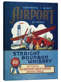 Tableau sur toile  Airport Whiskey Label