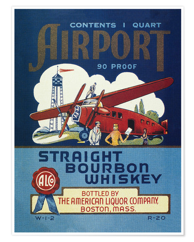 Poster Airport Whiskey