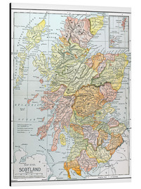 Alu-Dibond  Map: Scotland