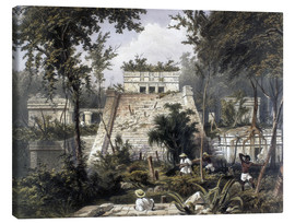 Tableau sur toile  Mexico : Tulum, 1844 - Frederick Catherwood