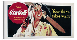 Tableau sur toile  Coca-Cola, your thirst takes wings