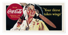 Poster  Coca-Cola, your thirst takes wings