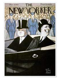 Poster The New Yorker, Hoover et Roosevelt
