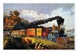 Poster  American Express Train. - N. & J.M. Currier & Ives