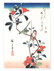 Poster Flowers and Birdsin