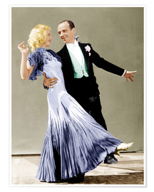 Poster  THE GAY DIVORCEE, Ginger Rogers, Fred Astaire