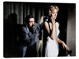 Toile  Dial M for Murder, from left: Anthony Dawson, Grace Kelly in 1954