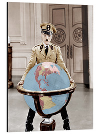Tableau en aluminium  The Great Dictator - Charlie Chaplin