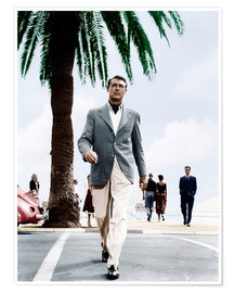 Poster Cary Grant traverse une route