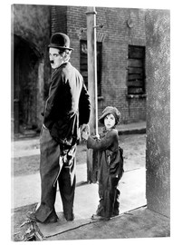 Verre acrylique  THE KID, Charles Chaplin, Jackie Coogan, 1921