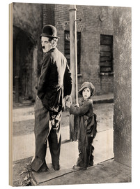 Bois  THE KID, Charles Chaplin, Jackie Coogan, 1921