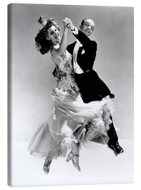 Toile  Rita Hayworth et Fred Astaire