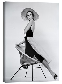 Toile  Grace Kelly with hat