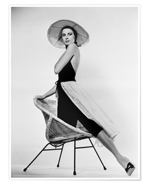 Poster  Grace Kelly with hat