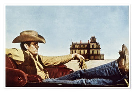 Poster  James Dean en cow-boy
