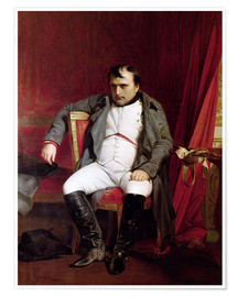 Poster  Napoleon after his Abdication - Hippolyte Delaroche