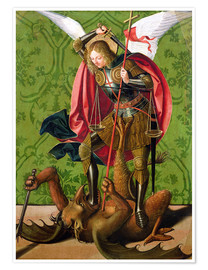 Poster  Saint Michel tue le dragon - Josse Lieferinxe