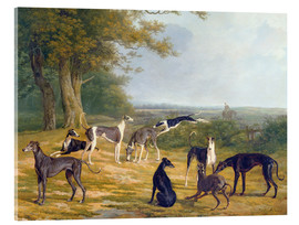 Verre acrylique  Nine Greyhounds in a Landscape - Jacques Laurent Agasse