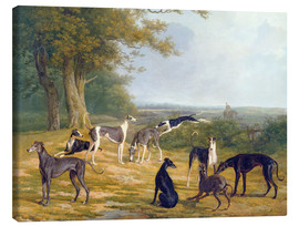 Toile  Nine Greyhounds in a Landscape - Jacques Laurent Agasse