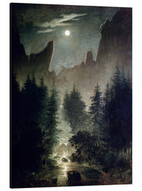 Tableau en aluminium  Uttewalder Grund - Caspar David Friedrich