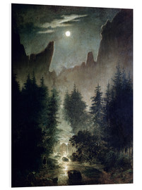 Tableau en PVC  Uttewalder Grund - Caspar David Friedrich