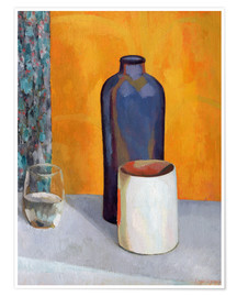 Poster  Still Life with a Blue Bottle - Roger Fry
