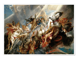 Poster  Fall of Phaeton - Peter Paul Rubens