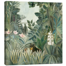 Toile  Jungle équatoriale - Henri Rousseau