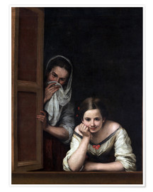 Poster  Women from Galicia at the Window - Bartolome Esteban Murillo