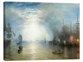 Toile  Keelmen Heaving in Coals by Moonlight - Joseph Mallord William Turner