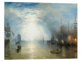 Tableau en PVC  Transport de charbon au clair de lune - Joseph Mallord William Turner