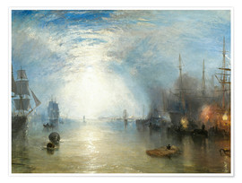 Poster  Transport de charbon au clair de lune - Joseph Mallord William Turner