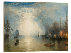 Tableau en bois  Transport de charbon au clair de lune - Joseph Mallord William Turner