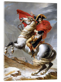 Verre acrylique  Bonaparte franchissant le Grand-Saint-Bernard - Jacques-Louis David