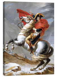 Toile  Bonaparte franchissant le Grand-Saint-Bernard - Jacques-Louis David