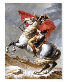 Poster  Bonaparte franchissant le Grand-Saint-Bernard - Jacques-Louis David