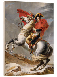 Tableau en bois  Bonaparte franchissant le Grand-Saint-Bernard - Jacques-Louis David