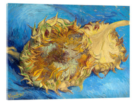 Tableau en verre acrylique  Two sunflowers - Vincent van Gogh