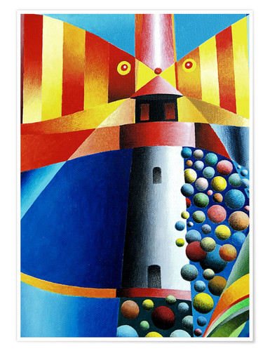 Poster Lighthouse Fish